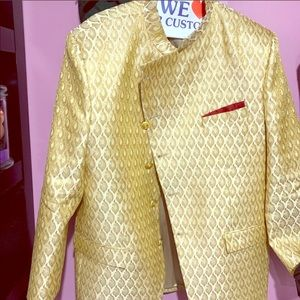 Gold formal jacket
